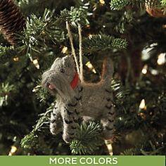 Felt Terrier Ornament