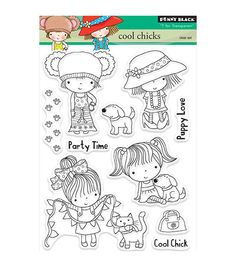 Penny Black T for Transparent Clear Stamps Cool Chicks
