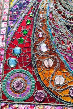 "Detail from - Mosaic, 'light box' table, 45""x25"" by Nikkinella, via Flickr"