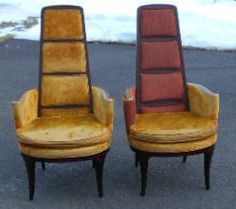 Pair Mid Century Modern High Back Lounge Chairs In Tarrytown New York Apartment Therapy Classifieds