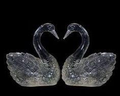 Escultura de gelo…….casal de cisnes. Lindo!!!