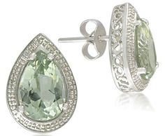 Green Amethyst Earrings - browse our sensational selection of gorgeous green amethyst rings Pearl And Diamond Earrings, Amethyst Jewelry, Amethyst Earrings, Silver Drop Earrings, Stud Earrings, Diamond Stud, Diamond Jewellery, Teardrop Earrings, Diamond Rings