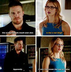 Arrow - Oliver & Felicity #3x16 #Season3 #Olicity