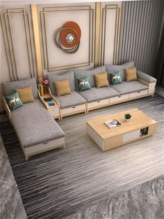 Home Interior Decor Video, Diy Abschnitt, Corner Sofa Design, Sofa Bed Design, House Furniture Design, Living Room Sofa Design, Bedroom Bed Design, Home Room Design, Home Interior Design, Living Room Designs, Furniture Projects