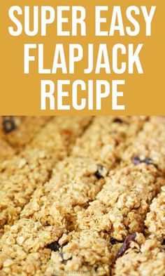 Fruity Flapjacks (cereal bars) - delicious easy oatmeal bars with dried fruit Easy Flapjacks, Breakfast Bars Healthy, Healthy Bars, Healthy Food, Easy Oatmeal Bars, Gourmet Recipes, Baking Recipes, Healthy Flapjack, Party