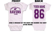 3a3d8ad2b daddys mommy ravens baby jersey customized personalized infant shirt jersey  baltimore gear onesie bodysuit clothes Daddys