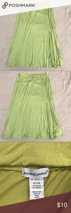 ✔️Preowned Jessica London Olive Maxi Jersey Skirt ✔️Preowned Jessica London Olive Maxi Jersey Skirt Jessica London Skirts Maxi