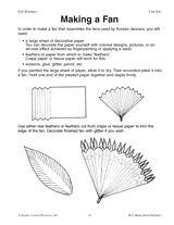 Making a Fan Printable - Children's Art Activity (K-2nd Grade) - TeacherVision.com