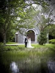 Romantic Gougane Barra Chapel, Ireland a secret kiss-bride and groom #romantic #love #kiss # gougane barra photos - Google Search