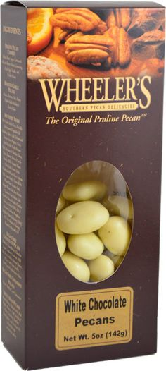 Wheeler's White Chocolate Peacans, 5 oz.