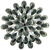Turquoise Layered Flower Metal Wall Decor