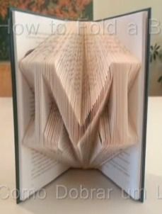 BOOK ARTS FOLDED tut https://www.youtube.com/watch?v=DJ9kFzhszw0&t=1m5s; also https://www.youtube.com/watch?v=Gm6kdGQit9g&t=25s; and http://www.diypics.com/simplified-folded-book-art/ She rec at least 300 pp for a single letter monogram. Being off on top/bottom not critical. Score rather than mark top b/c top shows.