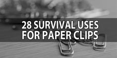 28 uses for paper clips
