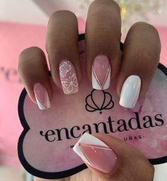 French Manicure Nail Designs, Manicure And Pedicure, Christmas Nail Art Designs, Christmas Nails, Simple Acrylic Nails, Stiletto Nail Art, Gelish Nails, Super Nails, Bridal Nails