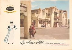 - La Fonda Hotel, Santa Fe, New Mexico: Been here. New Mexico Santa Fe, Santa Fe Nm, Harvey House, New Mexico History, Harvey Girls, Travel New Mexico, Santa Fe Style, Land Of Enchantment, Southwest Art