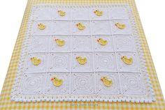 CROCHET PATTERN Little Duck Blanket Baby by KerryJayneDesigns