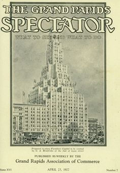 Proposed 34-story Furniture Capitol Building on Lyon Street (never built) - April 23, 1927
