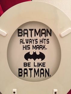 Batman Bathroom Toilet Decal: Batman always hits his mark.