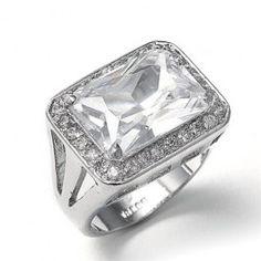 Emerald Shaped CZ #Bridal or #Cocktail #Ring <3 www.imagebridal.com <3