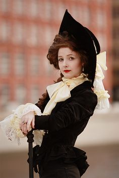 I want to be a fancy lady in a big hat for Halloween. I guess I'm going to be British.