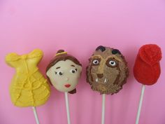 6 Sweet Sets of Disney Princess Cake Pops - Foodista.com -   Beauty & the Beast