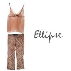 -Conjunto de pijama con pantalón- Muestra toda tu sensualidad aun estando en pijama larga con este conjunto de Elipse. Está compuesto por un pantalón elaborado en microfibra y una blusa elaborada en copas y encaje que resaltará toda tu belleza.