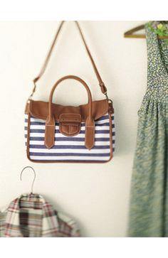 Striped summer bag.