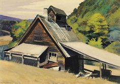 Edward Hopper Vermont Sugar House print for sale. Shop for Edward Hopper Vermont Sugar House painting and frame at discount price, ships in 24 hours. Cheap price prints end soon. Robert Rauschenberg, American Realism, American Artists, David Hockney, Gloucester Beach, Monet, Edward Hopper Paintings, Ashcan School, Sketches