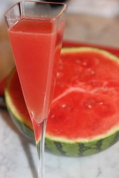 Watermelon Elderflower Martini