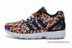 low priced 3661e 575bd Adidas Originals ZX Flux Rainbow Multi Color Shoes For Women Puma Running,  Running Shoes,