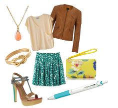 Accessorize this colorful outfit with a turquoise #Acroball pen!
