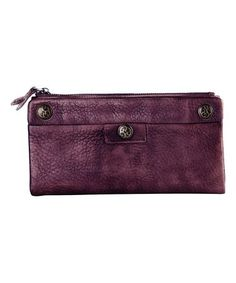 Look what I found on #zulily! Purple Ornament Leather Wallet #zulilyfinds
