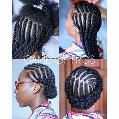 Hair Braids Cornrows Flat Twist 57 Ideas - Home Flat Twist Hairstyles, Flat Twist Updo, Girl Hairstyles, Braided Hairstyles, Black Hairstyles, 1940s Hairstyles, Twist Ponytail, Natural Updo Hairstyles, Natural Protective Hairstyles
