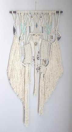"Macrame Wall Hanging ""Treasure Hunt no.5"" by HIMO ART, One of a kind Handcrafted Macrame, rope art"