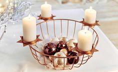 Kerzenständer aus Metall, Kupfer oder Holz. Wir haben 7 Alternativen für einen schönen #Adventskranz: