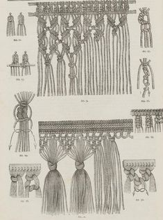 "So macrame is like braiding hair? From the public domain book ""Complete guide to the work-table : containing instructions in Berlin work, crochet, drawn-thread work, embroidery, knitting, knotting or macrame, lace, netting, poonah painting, tatting, with numerous illustrations and coloured designs (1884)."""