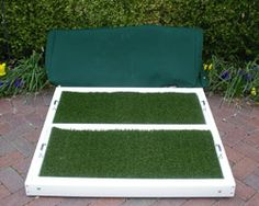 Pet Patio Potty Dog Litter Box Set Up With K9Grass