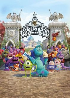 Pixar Movies  ... Monsters University...so cute,  didn't stop smiling the whole way through:)