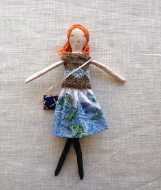 Modern cloth doll Doll with clothes doll with mermaid by Dollisimo