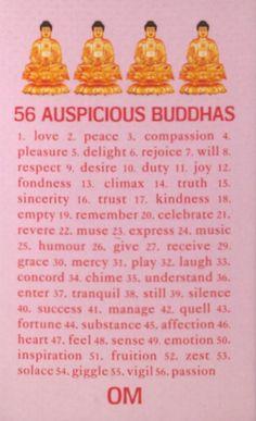 56 Auspicious Buddhas.
