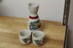 Vintage Saki Set by TreasuresFromUs on Etsy