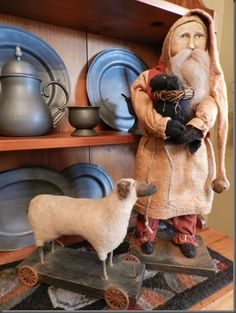pewter, Santa, sheep.........luv
