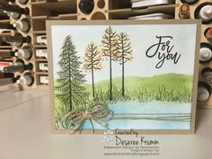 I love surprises as much as I love any kind of tree stamps! Yes, I am one of those tried and true lovers of the oldest stamp from Stampin Up! Lovely as a Tree. I use this set for Christmas cards, Sympathy cards, Thank yous. Fall Cards, Christmas Cards, Beach Christmas, Stamping Up Cards, Cute Cards, Pretty Cards, Sympathy Cards, Scrapbook Cards, Homemade Cards