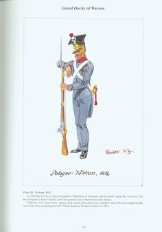 Grand Duchy of Warsaw: Plate 28. Veteran, 1812.