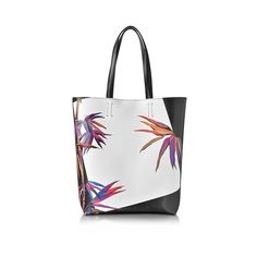 Emilio Pucci Handbags Bamboo Print Black and White Leather Tote (7.885 ARS) ❤ liked on Polyvore featuring bags, handbags, tote bags, hand bags, handbag tote, tote handbags, man bag and leather tote purse