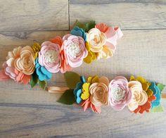 Aurelia LUXE Floral Crown Felt Flower Crown / by shopfeltinbloom