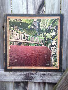 """Gulf Blvd."" Black rustic (wood print)"