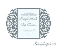 5x7 svg dxf cdr gate fold wedding invitation card laser cut swirl gate fold wedding invitation card laser cut template quinceanera svg dxf cdr vector file pattern silhouette cameo cricut by narisaridigitalart on stopboris Choice Image
