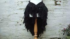 Upcycled schwarz treiben Rock Damen Kleidung von BabaYagaFashion