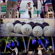Chris & Christine Palm trees #WeddingMaracas and Mr & Mrs piñatas! happy to be part of this wedding! under the watchful eye of Fresa Weddings!